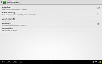 Samsung Galaxy Tab 2 10.1 - Netzwerk - Manuelle Netzwerkwahl - Schritt 8