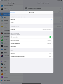 Apple iPad Pro 12.9 (2018) - ipados 13 - E-Mail - Manuelle Konfiguration - Schritt 22