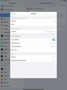 Apple iPad Pro 12.9 (1st gen) - ipados 13 - E-Mail - Manuelle Konfiguration - Schritt 22
