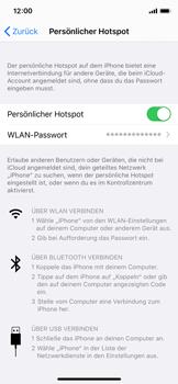 Apple iPhone X - iOS 13 - WiFi - So aktivieren Sie einen WLAN-Hotspot - Schritt 8