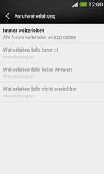 HTC Desire 500 - Anrufe - Rufumleitungen setzen und löschen - Schritt 8
