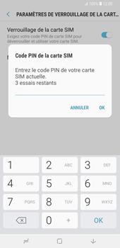 Samsung Galaxy S9 Plus - Sécuriser votre mobile - Personnaliser le code PIN de votre carte SIM - Étape 8