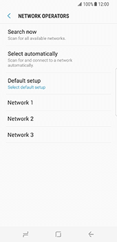 Samsung Galaxy S8 - Network - Manual network selection - Step 9