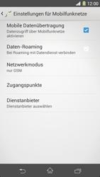 Sony Xperia Z1 - Netzwerk - Netzwerkeinstellungen ändern - 8 / 8