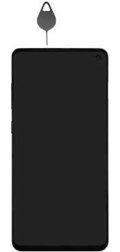 Samsung Galaxy S10e - Premiers pas - Insérer la carte SIM - Étape 2