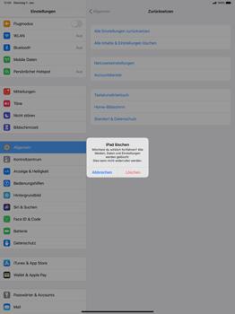 Apple iPad Pro 12.9 (1st gen) - ipados 13 - Gerät - Zurücksetzen auf die Werkseinstellungen - Schritt 7