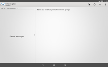 Sony Xperia Tablet Z2 (SGP521) - E-mail - Configurer l