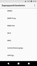 Sony Xperia XA2 - MMS - Manuelle Konfiguration - 11 / 26