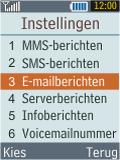 Samsung B2100 Xplorer - E-mail - Handmatig instellen - Stap 6