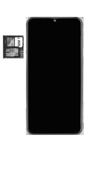 Samsung Galaxy A40 - Toestel - simkaart plaatsen - Stap 4