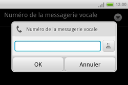 HTC A810e ChaCha - Messagerie vocale - configuration manuelle - Étape 8