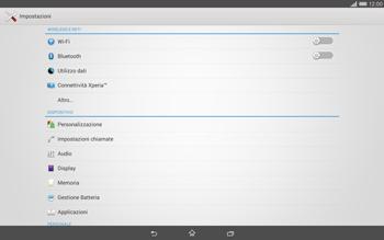 Sony Xperia Tablet Z2 LTE - Internet e roaming dati - Disattivazione del roaming dati - Fase 4