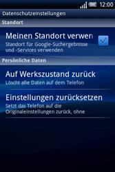Sony Ericsson Xperia X8 - Fehlerbehebung - Handy zurücksetzen - Schritt 7