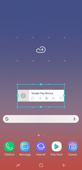 Samsung Galaxy Note9 - Operazioni iniziali - Installazione di widget e applicazioni nella schermata iniziale - Fase 7