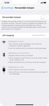 Apple iPhone XR - Internet - mijn data verbinding delen - Stap 6