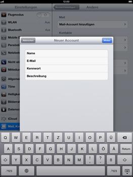 Apple iPad mini - E-Mail - Manuelle Konfiguration - Schritt 9