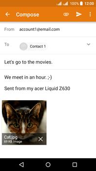 Acer Liquid Z630 - E-mail - Sending emails - Step 15