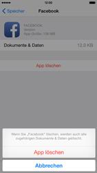 Apple iPhone 6 iOS 8 - Apps - Eine App deinstallieren - Schritt 8