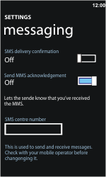 Nokia Lumia 900 - SMS - Manual configuration - Step 5