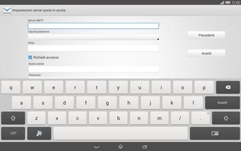Sony Xperia Tablet Z2 LTE - E-mail - configurazione manuale - Fase 12