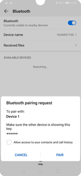 Huawei P30 - Bluetooth - Connecting devices - Step 7