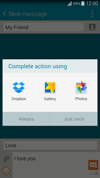 Samsung N910F Galaxy Note 4 - MMS - Sending pictures - Step 15