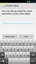 Acer Liquid Z5 - E-mail - Manual configuration - Step 6