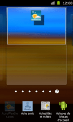 Samsung Galaxy S Advance - Prise en main - Installation de widgets et d
