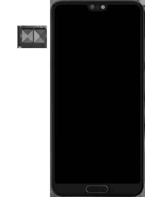 Huawei P20 - Android Pie - SIM-Karte - Einlegen - Schritt 4
