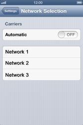 Apple iPhone 4 - Network - Manual network selection - Step 7
