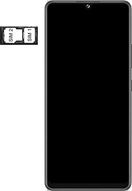 Samsung Galaxy A42 5G - Premiers pas - Insérer la carte SIM - Étape 5