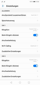 Huawei P20 - Anrufe - Rufumleitungen setzen und löschen - 5 / 9