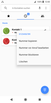 Sony Xperia XZ2 - Anrufe - Anrufe blockieren - Schritt 5