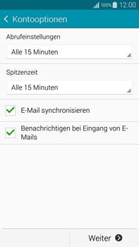 Samsung Galaxy Note 4 - E-Mail - Manuelle Konfiguration - Schritt 16