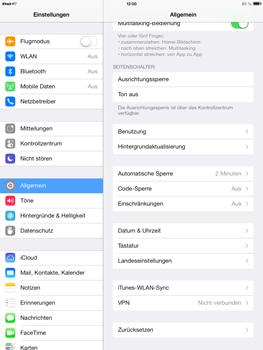 Apple iPad Air - Gerät - Zurücksetzen auf die Werkseinstellungen - Schritt 4