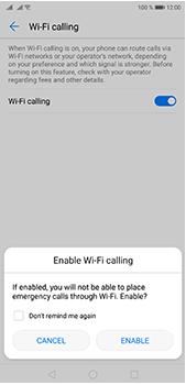 Huawei P20 Pro - WiFi - Enable WiFi Calling - Step 8