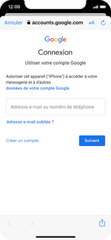 Apple iPhone X - iOS 13 - E-mail - Configuration manuelle (gmail) - Étape 7