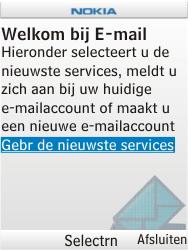 Nokia X2-00 - e-mail - handmatig instellen - stap 5