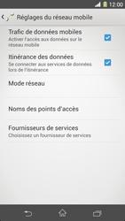 Sony Xperia Z1 - Internet et roaming de données - Désactivation du roaming de données - Étape 6