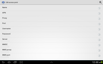 Samsung N8000 Galaxy Note 10-1 - Internet - Manual configuration - Step 11