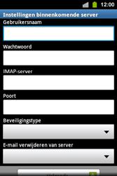 Samsung S5830i Galaxy Ace i - E-mail - e-mail instellen: IMAP (aanbevolen) - Stap 7