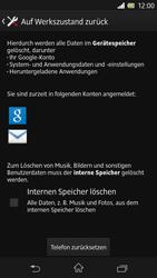 Sony Xperia Z - Fehlerbehebung - Handy zurücksetzen - 8 / 10
