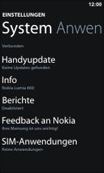 Nokia Lumia 800 - Fehlerbehebung - Handy zurücksetzen - 6 / 11