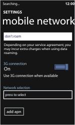 Nokia Lumia 710 - Network - Usage across the border - Step 7