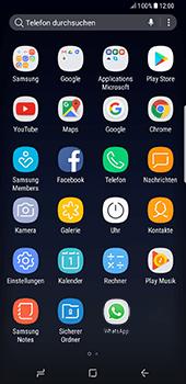 Samsung Galaxy S8 Plus - Datenschutz und Sicherheit - WhatsApp schützen und Datenschutz verwalten - 3 / 18