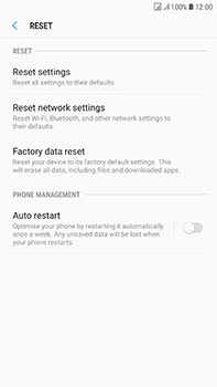Samsung Galaxy J7 (2017) - Device - Factory reset - Step 7