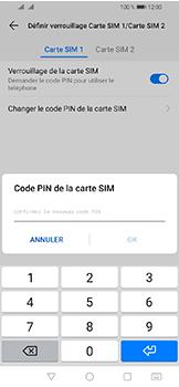 Huawei Y6 (2019) - Sécuriser votre mobile - Personnaliser le code PIN de votre carte SIM - Étape 13