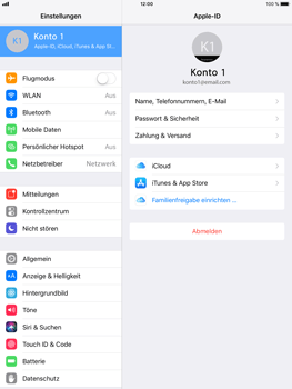 Apple iPad Mini 4 - Software - iCloud synchronisieren - 4 / 10