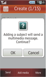 Samsung S5230 Star - MMS - Sending pictures - Step 11