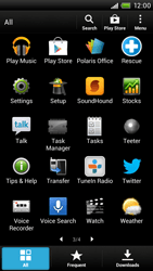 HTC One X Plus - Applications - Setting up the application store - Step 4